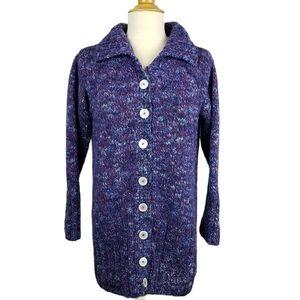 Handmade Grandpa Sweater Cardigan Chunky OOAK